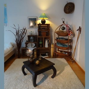 Rattan-Möbel, H:170cm, B:65cm