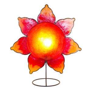 Dekor - Leuchte, Tischlampe Stern rot