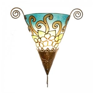 Dekor - Leuchte, Wandlampe Blüten