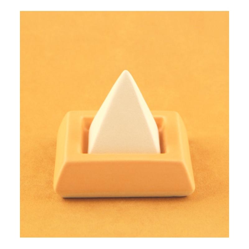 DS12.29Duftstein Viereckpyramide auf Unterteller