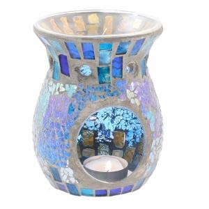 7.307.2 Duftlampe, Mosaik Glas blau