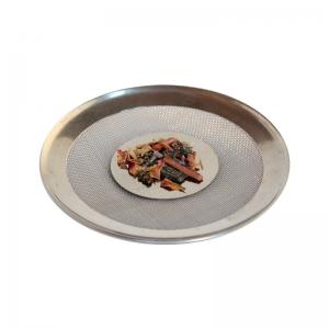Räuchersieb Stahlblech, 9,5 cm gebogen mittelgross, mit 4 cm Blech