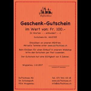 Geschenk-Gutschein Fr. 100.-