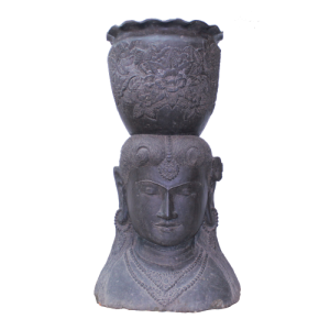Buddha aus Stein schwarz