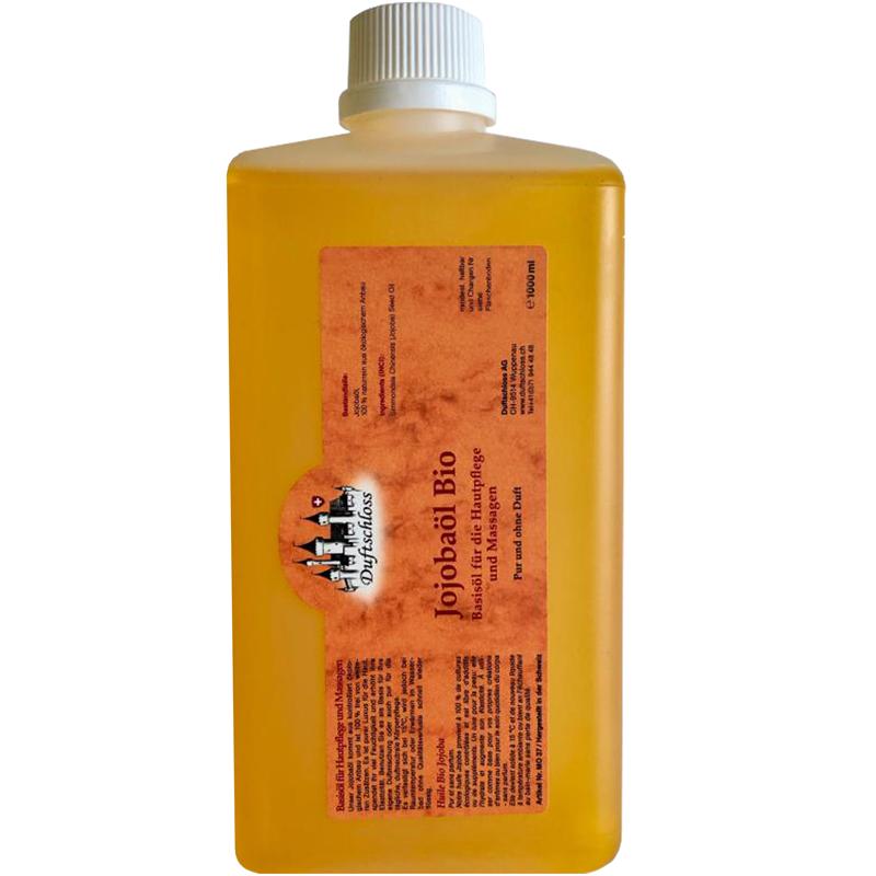 1000 ml Jojobaöl Bio, als Basisöl, pur und duftneutral