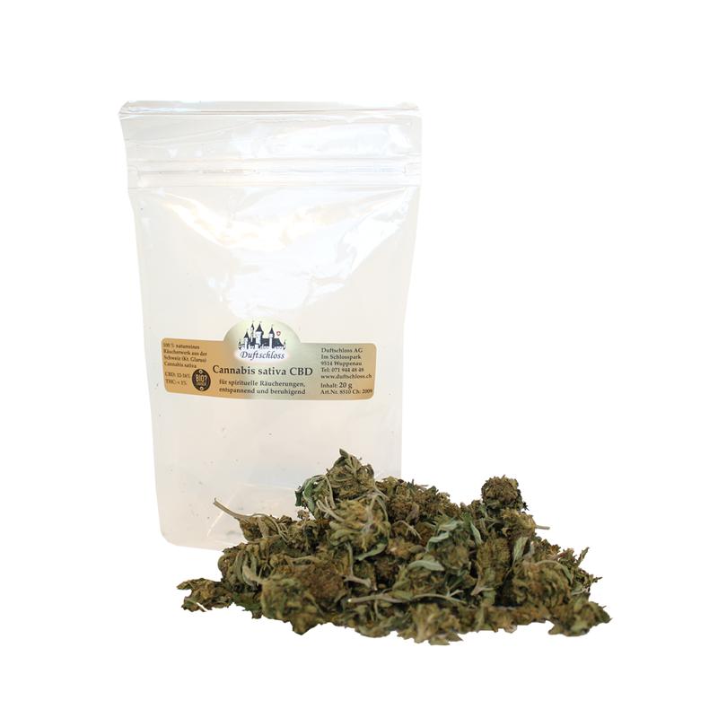 CBD Cannabis sativa, 20 Gramm Blüten Outdoor, im Beutel, Schweiz