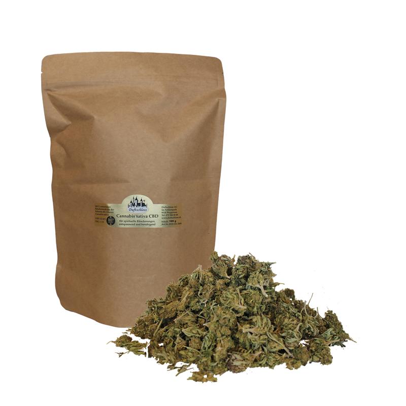 06. CBD Cannabis sativa, 100 Gramm Blüten Outdoor, im Beutel, Schweiz