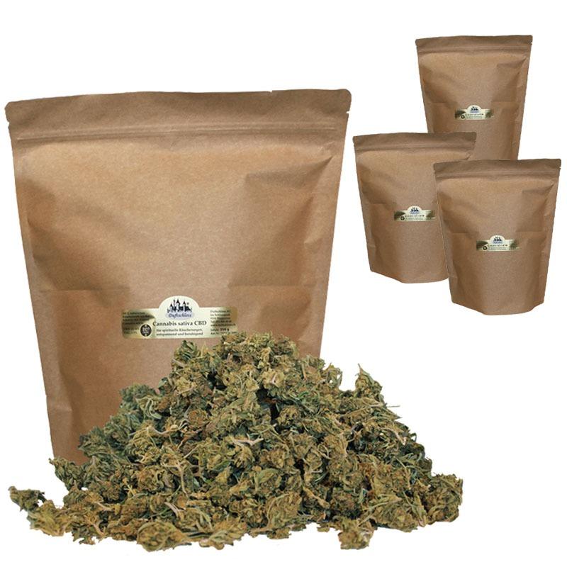 08. CBD Cannabis sativa, 1000 Gramm Blüten Outdoor, im Beutel, Schweiz  (1 Kilo)
