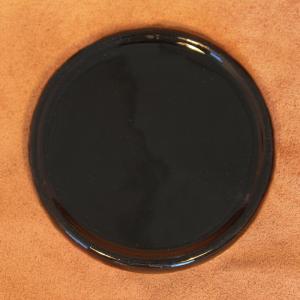 Unterteller Keramik, schwarz