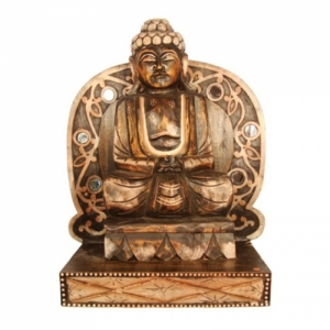 Buddha, aus Holz, 08