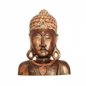 Buddha, aus Holz, 07