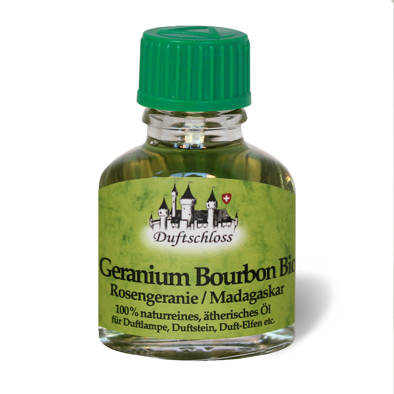 Geranium Öl Bourbon Bio 11 ml (Rosengeranie), Madagaskar, 100% naturrein
