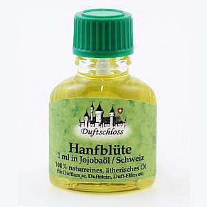 Hanfblüten Öl Bio, Schweiz, 1 ml in 10 ml Jojobaöl, 11 ml