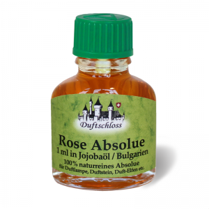 Rose Öl Absolue 1 ml in 10 ml Jojobaöl, Bulgarien, 100% naturrein, 11 ml