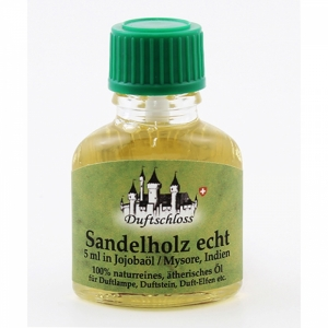 Sandelholz echt, Mysore/Südindien, 5 ml in Jojobaöl, 11ml