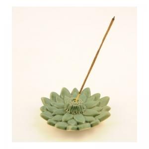 Räucherstäbchenhalter, Ton Lotus grün,..