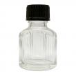 11 ml Weissglas (leere Flasche mit Deckel in 3 versch. Farben) 11 ml Weissglas (leere Flasche mit schwarzem Deckel) und Tropfeinsatz