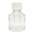 11 ml Weissglas (leere Flasche mit Deckel in 3 versch. Farben) 11 ml Weissglas (leere Flasche mit weissem Deckel) und Tropfeinsatz