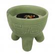 Räucherschale für Kohle und Kegel, Keramik, Inka, RSH06 Räucherschale für Kohle und Kegel, Keramik, Inka grün, RSH061
