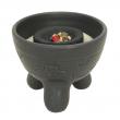 Räucherschale für Kohle und Kegel, Keramik, Inka, RSH06 Räucherschale für Kohle und Kegel, Keramik, Inka schwarz, RSH062
