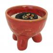 Räucherschale für Kohle und Kegel, Keramik, Inka, RSH06 Räucherschale für Kohle und Kegel, Keramik, Inka rot, RSH063